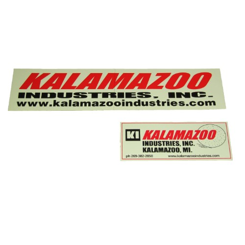 00127087 Kalamazoo Industries logo stick kit, Kalamazoo Industries logo kit, Kalamazoo Industries , Kalamazoo, Kalamazoo Industries logo sticker kit, logo sticker kit, Kalamazoo Industries logo, Kalamazoo Industries