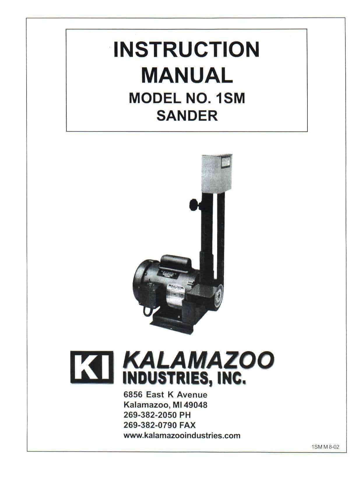1SM 1 X 42 inch belt sander manual
