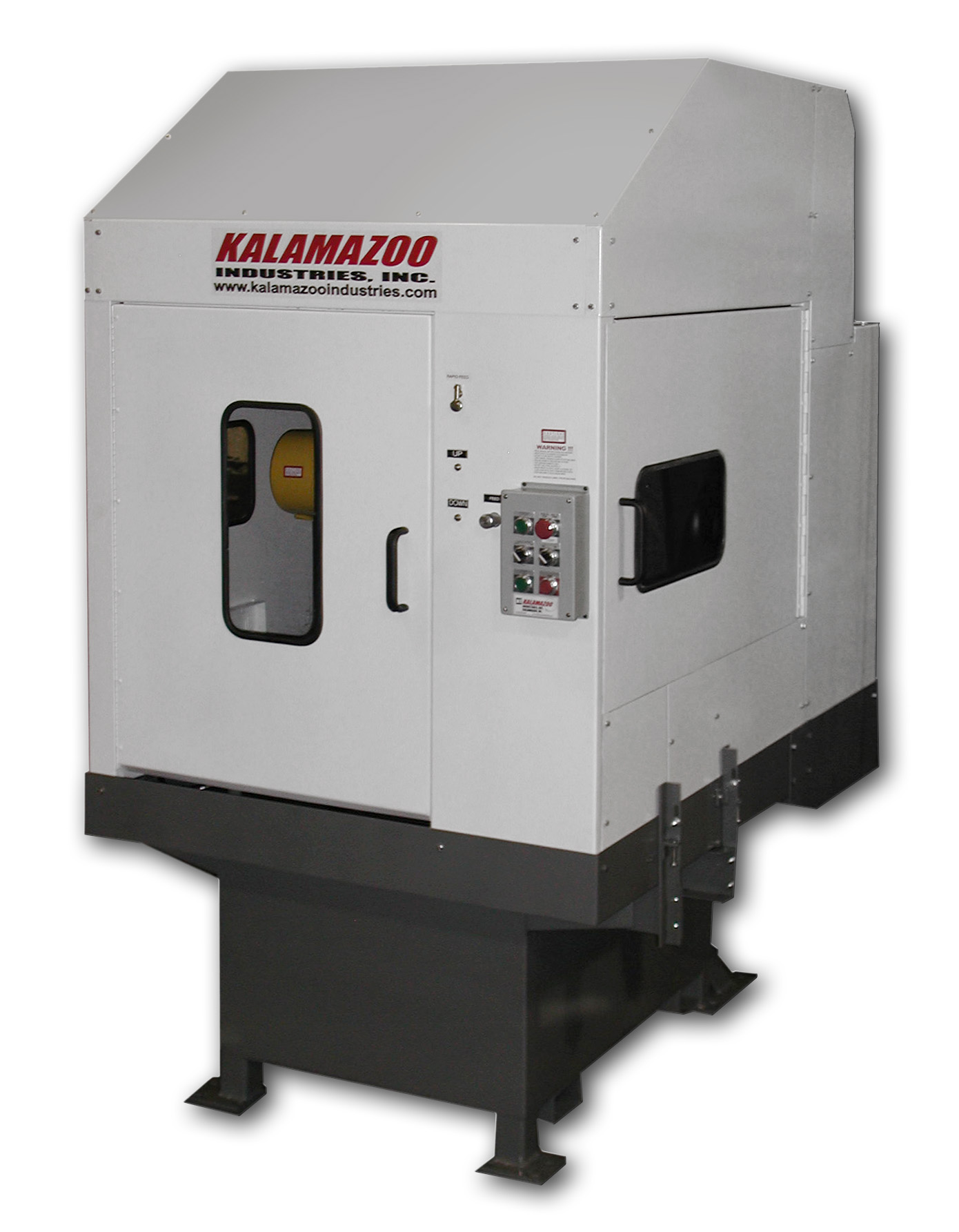 K26E 26 Inch Enclosed Wet Abrasive Cutoff Saw, cutoff saw, chop saw, wet abrasive cutoff saw, Kalamazoo Industries offers many different size abrasive chop saws, different size abrasive chop saws, abrasive chop saws, industrial chop saws, kalamazoo industries