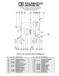 2SK7 2 x 48 inch combination belt sander replacement parts list, 2SK7 2 x 48 inch combination belt sander parts list, 2 x 48 inch combination belt sander, combination belt sander, belt sander, sander