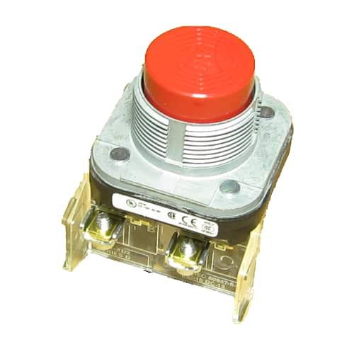 710-032 red stop push button, Kalamazoo, industrial, belt sanders, sanders
