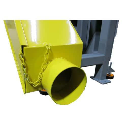 BG14 14 x 132 inch belt grinder 4 inch vacuum port