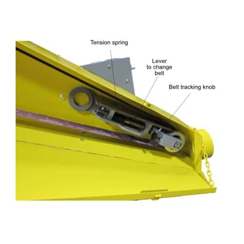 BG14 14 x 132 inch belt grinder belt tracking system