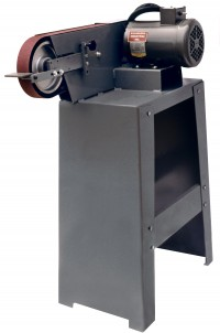 BG260HS 2 x 60 inch belt grinder shown with stand