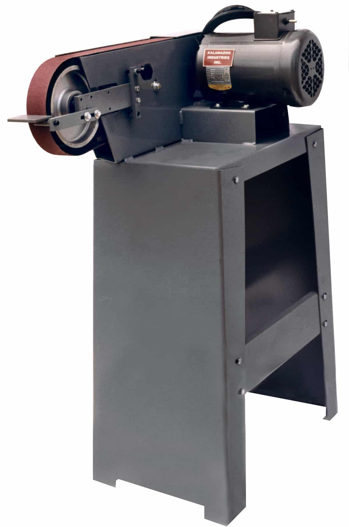 BG260HS 2 x 60 inch belt grinder shown with stand