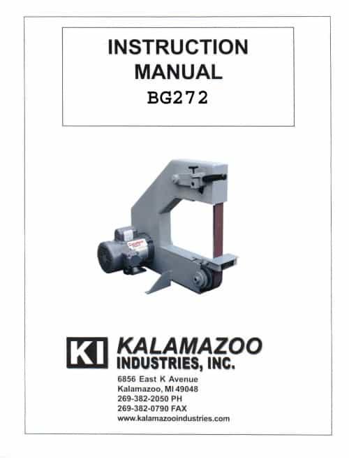 BG272 2 x 72 inch belt grinder manual, 2 x 72 inch, belt grinder, manual, grinder