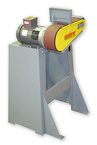 kalamazoo belt grinder. a 4\u2033w x 10\u201dh work space that allows full movement from left to right, and removable platen table converts slack belt grinding kalamazoo grinder