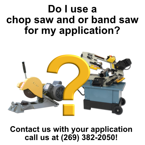 Do I use a chop saw and or band saw for my application?, chop saws, chop saw and or band saw, chop saw, shop, abrasive