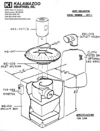 DCV-1 dust collector replacement part list