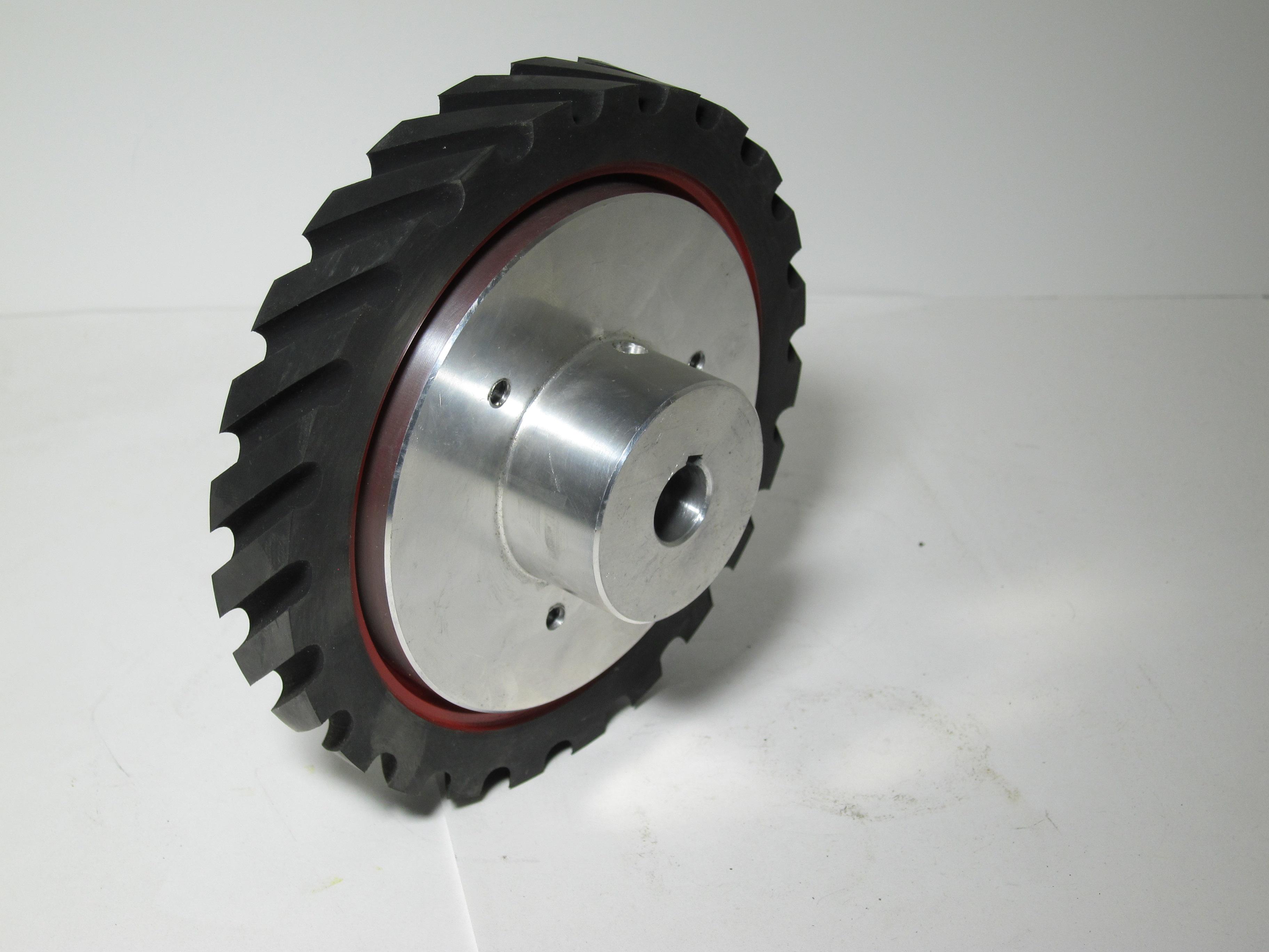 936-034 BG142 1 x 42 inch kalamazoo contact wheel, contact wheel, kalamazoo contact wheel, belt grinding, grinding