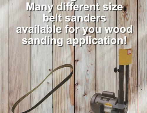 Industrial wood working belt sanders