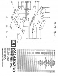 K10B 10 inch abrasive cutoff saw parts list, cutoff saw