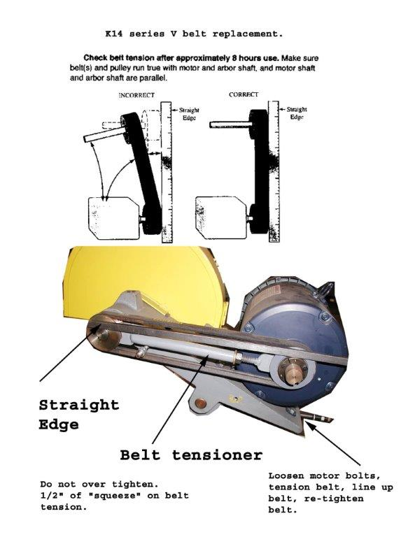 K14 belt change alignment