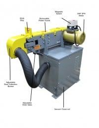 KS490HV-5 4 x 90 belt grinder with vacuum base with part descriptions