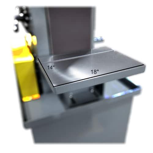 S10 belt sander adjustable work table