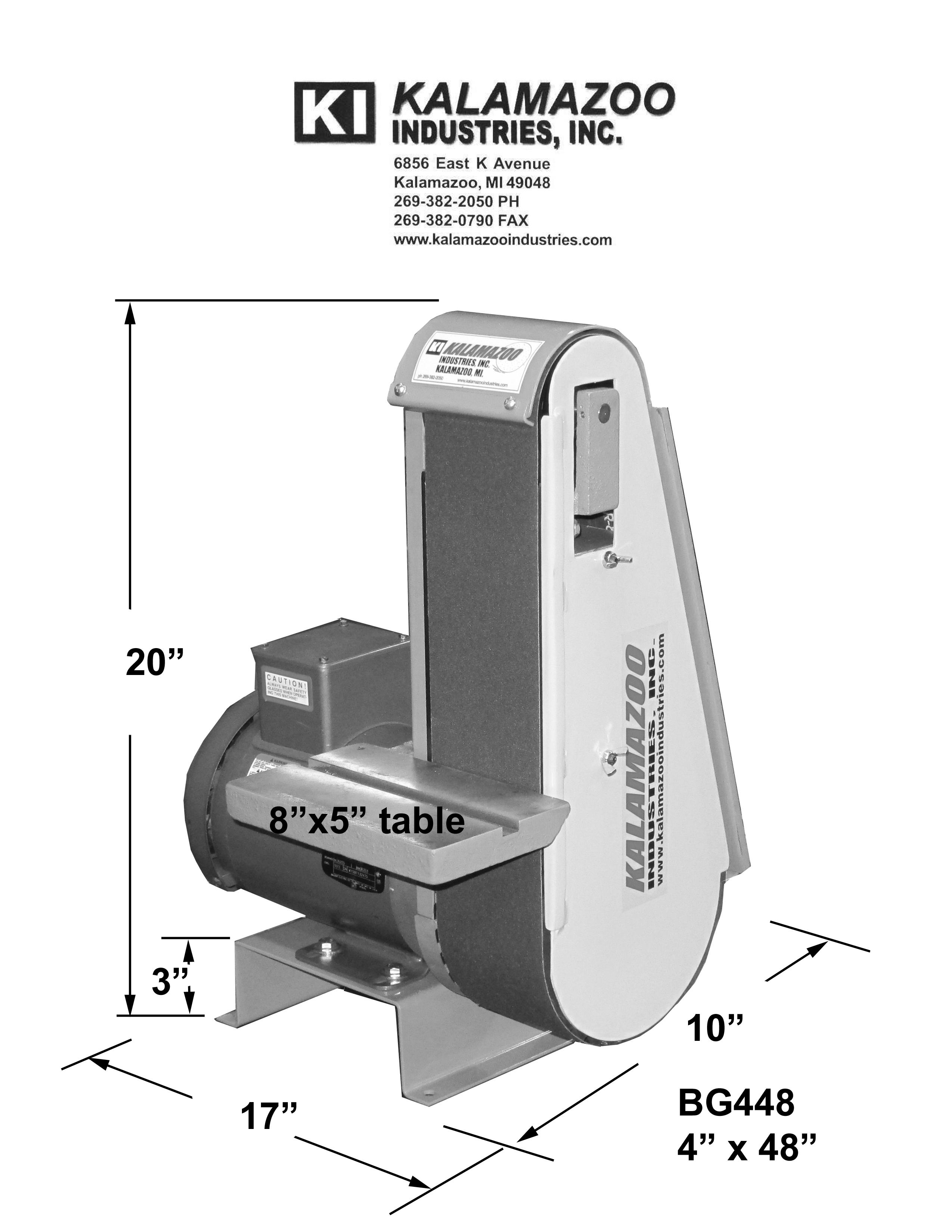 deburring, BG448 4 x 48 Industrial Abrasive Belt Grinder, 4 x 48 industrial abrasive belt grinder, descaling, beveling