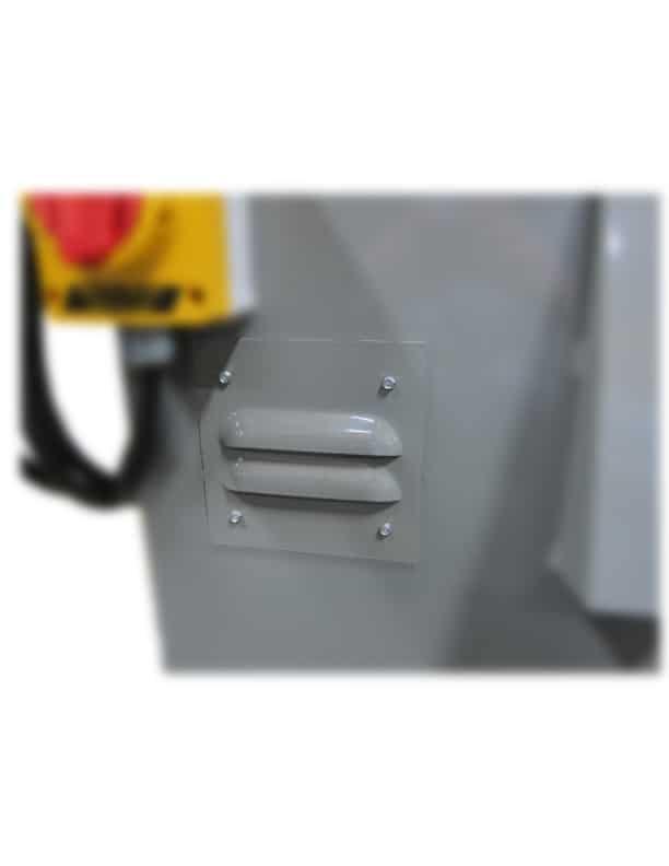 vacuum access port, metal cutting saw